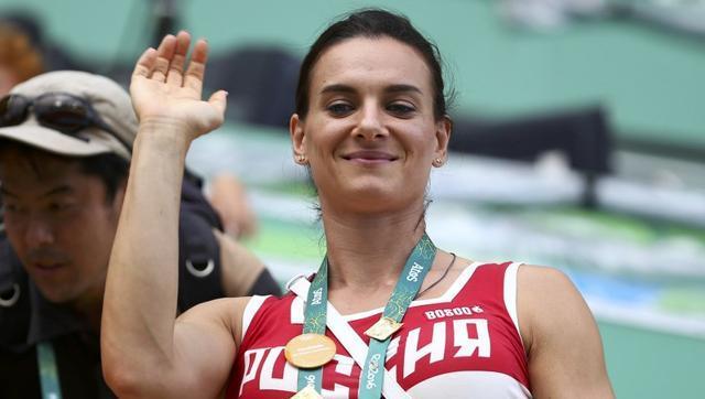Yelena Isinbayeva of Russia