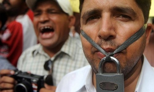Journalist Javed Iqbal in Karachi